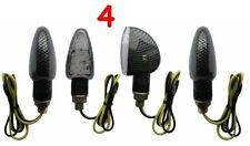4 Universal Motorcycle Motorbike 15 LED Indicators Light Bulb Turn Signal Carbon