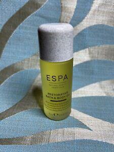 ESPA Restorative Bath & Body Oil 15ml Brand New And Unused