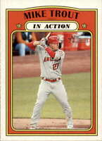 2021 Topps Heritage #170 Mike Trout NM-MT Angels In Action