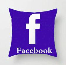 Facebook Pillow Case Social Media Pillow Cover Polyester Cushion Cover 45x45cm