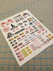 New RC Scale Crawler Decals No.3 for TAMIYA HPI LOSI KYOSHO TOYOTA 1/8 1/10 1/12