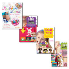 4 Loom Books Collection Set 150 projects Collection Rainbow, Rubber Band Loom Br