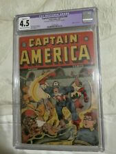 Timely Marvel Comics Golden age Captain America #30 CGC RESTORED 4.5.