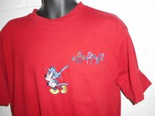 Vintage Disney Mickey Mouse Golf Embroidered T-Shirt Large