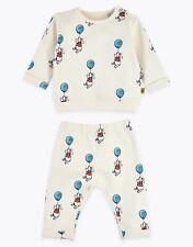 Brand New MARKS & SPENCER Winnie The Pooh Baby Top & Joggers Set - Newborn BNWT