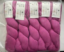 Rowan Creative Linen - 10 x 100g Shade 644 Phlox (magenta) / Pink New Lot 1
