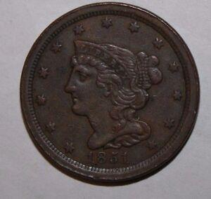 1851 US Half Cent V51