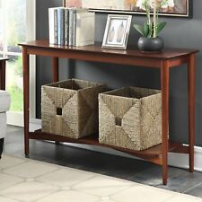 Console Tables For Entryway With Storage Shelf Wooden Retro Mission Style Foyer