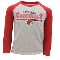 Louisville Cardinals Official NCAA Youth Kids Size Long Sleeve Shirt New Tags