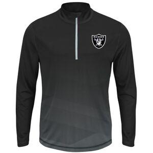 "Oakland Raiders Majestic NFL ""Intimidating"" 1/2 Zip Mock Neck Pullover Shirt"