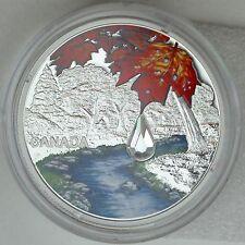 2017 $20 Jewel of the Rain: Sugar Maple Leaves Pure Silver Coin with Swarovski