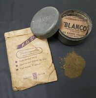 2 Packs of WW2 British Khaki Green No3 KG03 Blanco Powder - Equipment Renovator