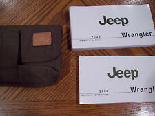 2008 Jeep Wrangler Owner's Manual with Case FREE US SHIPPING