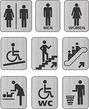 Baño Cartel Lavabo Discapacitados Cambiando Cámara Unisex Puerta/Pared