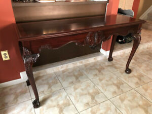 Thomasville Console Table Chippendale Mahogany