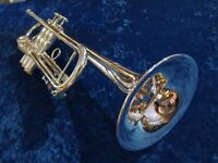 Willson Celebration 604 ML RS Bb Trumpet – Silver Plate (used instrument)