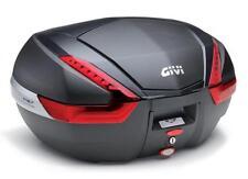 GIVI V47 Monokey Top case - Flat Black with carbon pattern finishing 47 LITER