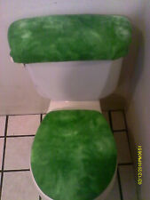 MARBLED GREEN TOILET SEAT COVER SET