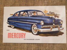 1949 Mercury Coupe FORD promo oversize postcard
