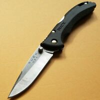 BUCK BANTAM MODEL 284 BLACK OR CAMOUFLAGE NYLON HANDLED FOLDING POCKET KNIFE