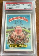 PSA 9 1985 Topps Garbage Pail Kids Stickers #52a Dirty Harry Glossy Series 2 OS2