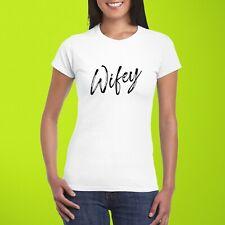 Wifey T-Shirt Slogan Celebrity Fashion Wedding Bride Top Women's Ladies