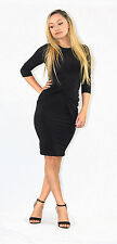 River Island Polyester 3/4 Sleeve Stretch, Bodycon Women's Dresses