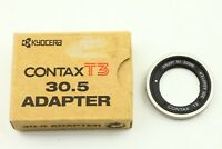 【 TOP MINT in BOX 】 Contax Adapter Filter Silver 30.5mm For Contax T3 from JAPAN