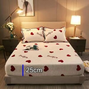 Universal Mattress Cover Mink Cashmere Thicken sheets bed Dust Cover