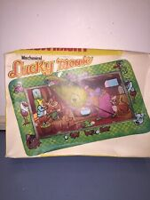 Vintage Mechanical Tin Lucky Mouse Toy With Disneys Snow White Background