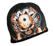 ACES & EIGHTS Beanie Knit Cap Motorcycle Biker Hat Skull Wild Bill Ski Snowboard