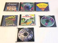 Lot of 7 Board PC Games Windows 95 98 Xp Slingo Boggle Scrabble Trivial Monopoly