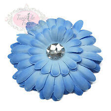 Large Multi-layered Diamante Flower Hair Clips Grips Accessory Bridesmaid Bridal