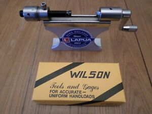 LE Wilson Reloading Case Trimmer Micrometer Adjustment with Stand