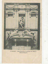 Firenze Monumento a Lorenzo de Medici Italy Vintage U/B Postcard US024