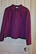 Charter Club Beautiful New With Tags , size L , Jacket  Eggplant is color.
