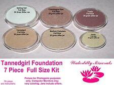 7Pc Lot Tanedgirl Minerals Bare Makeup Foundation Kit #2.3 Full Sizes New/Sealed
