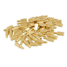 50 Pcs Brass Screw Thread PCB Stand-off Spacer M3 Male x M3 Female 6mm New