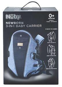 NUBY Baby Carrier 3 in 1 Newborn 0 - 18 Months Grey/Black BNIB