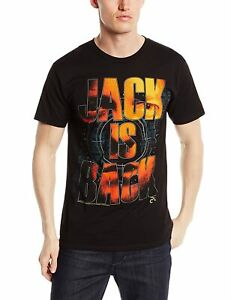 Adult Black Action Drama CTU TV Show 24 Jack is Back Bauer Photo T-Shirt Tee