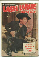 Lash LaRue Western  #18 VG The Pension Murder Case  Fawcett Publication CBX34