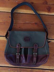 Vintage🔥 Nike Messenger Satchel Strap Bag Forrest Gump Canvas Leather Brown