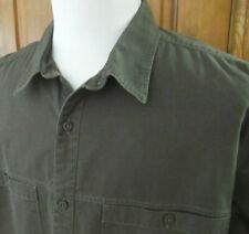 PATAGONIA Mens XXL GREEN ORGANIC COTTON Twill Canvas 2 POCKET L/S Button Shirt