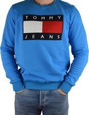 Tommy Hilfiger Sweatshirt Pullover Sweat 90s Tommy Jeans Neu Größe L Lagunablau