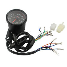 Universal Motorcycle Universal Speedometer Gauge LED Backlight Signal Instrument