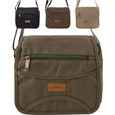 Mens - Ladies Medium Sized Canvas Messenger Style Shoulder Bag