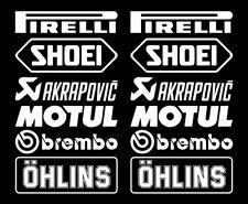 Motorsport Sponsoren Aufkleber Racing Set Brembo 2 für Motorrad Auto