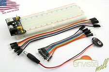 MB-102 830 Point Breadboard + 3.3V 5V Power Supply + 20 Jumpers + Battery Cable