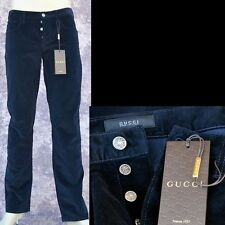 GUCCI New sz 50 - 34 Auth Authentic Mens Logo Pants Jeans navy blue corduroy