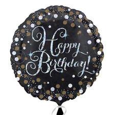 Gold Glitzernd Feier Alles Gute Zum Geburtstag 45.7cm Runder Folienballon